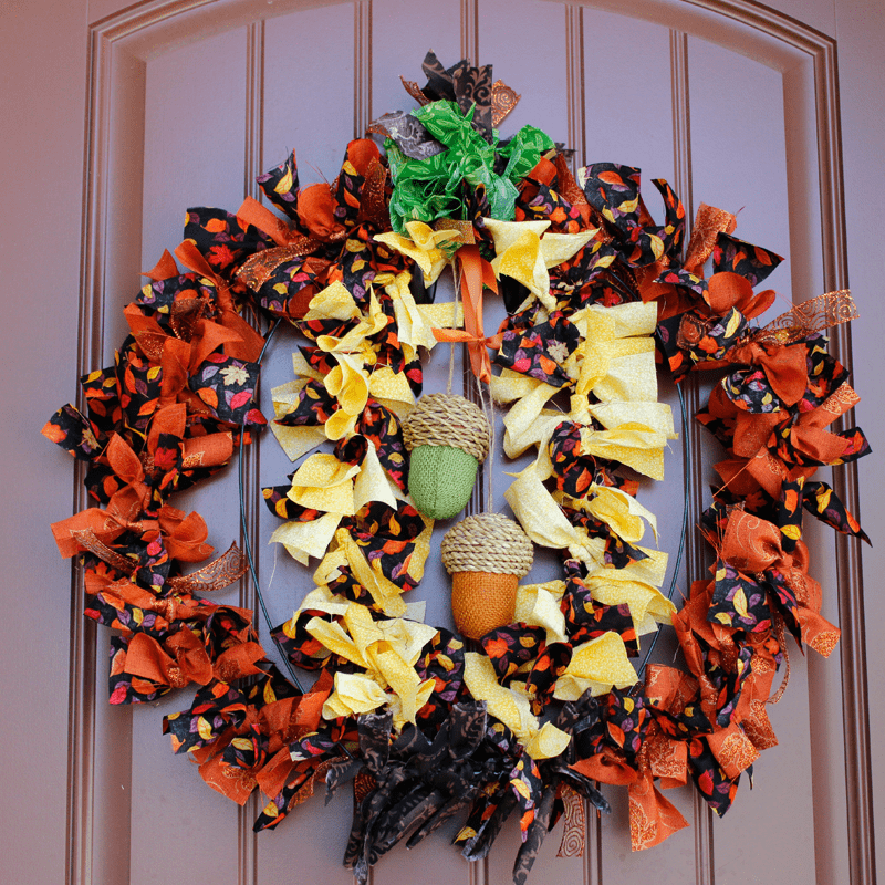 DIY Fall Fabric Wreath