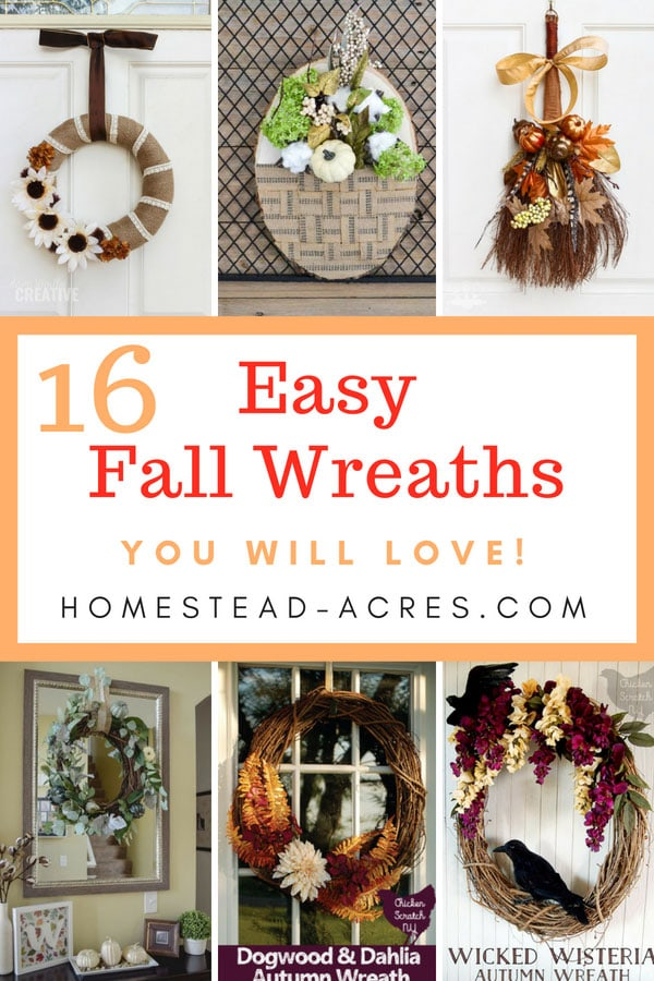 16 DIY Fall Wreaths