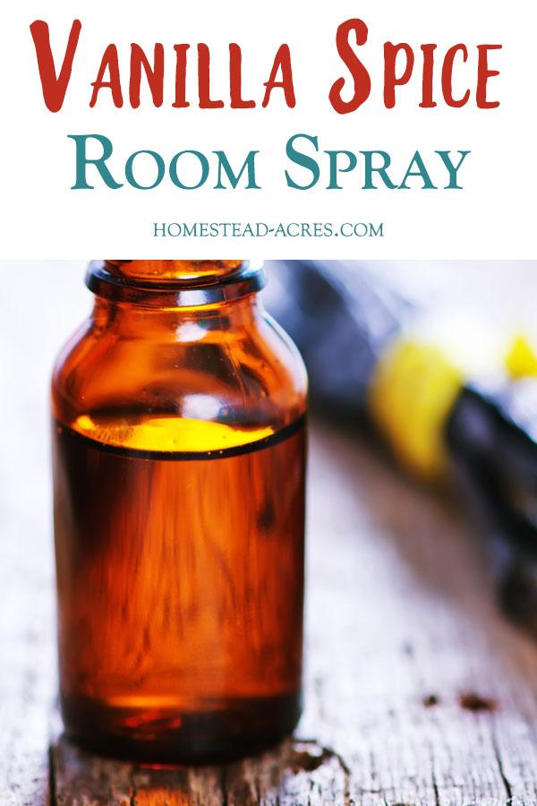 DIY Vanilla Spice Room Spray