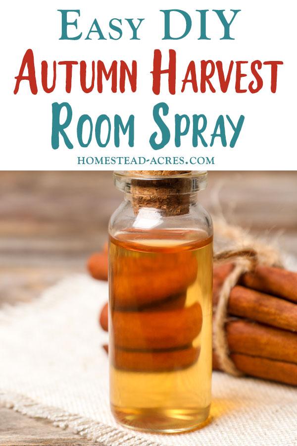 DIY Autumn Harvest Room Spray