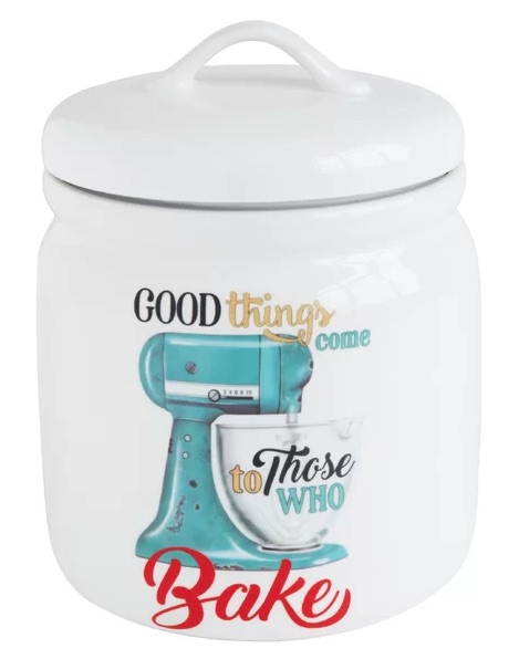 Good Things Come To Those That Bake Blue & White Kitchen Canister