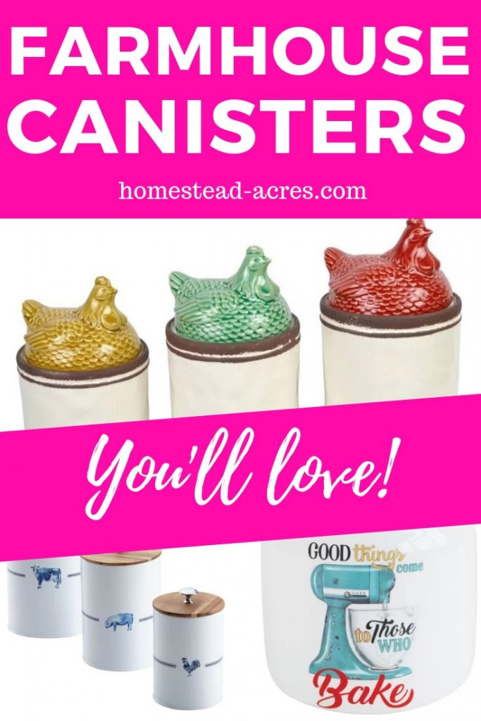 Farmhouse Style Kitchen Canisters You Will Love