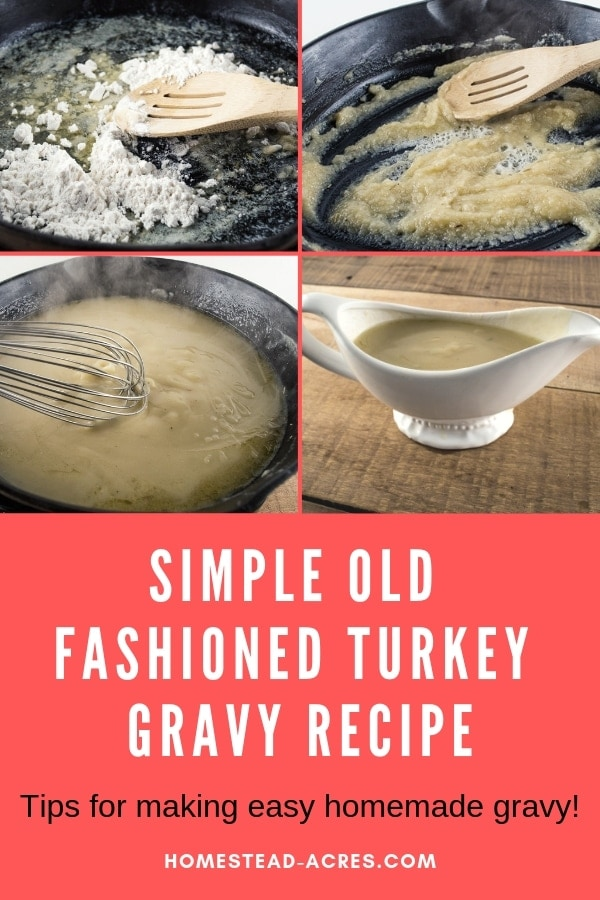 Simple Old Fashioned Turkey Gravy Recipe