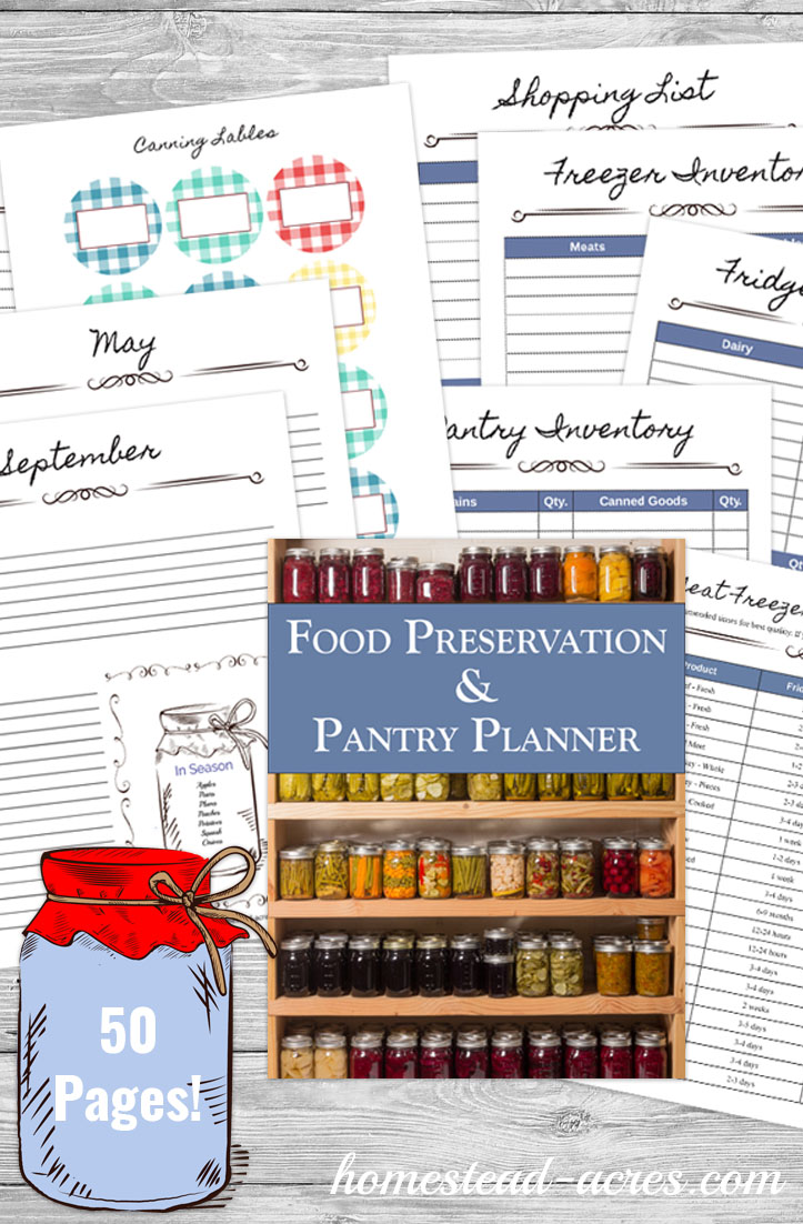 pantry and canning planner