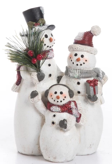 Resin Snowman Family Decoration