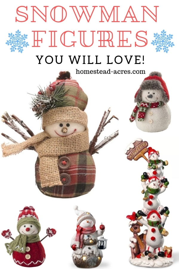 Cute Snowman Figurines For Christmas Decorating
