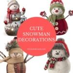 Cute Snowman Figurines Christmas Decorations