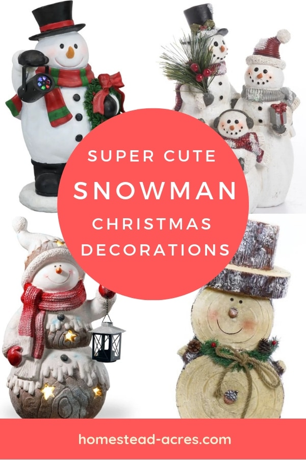 Snowman Figurines Holiday Decorations