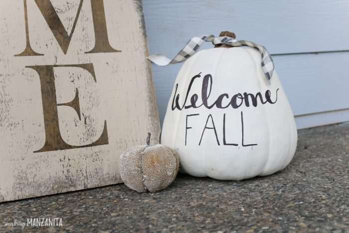 Painted pumpkin easy fall decor ideas