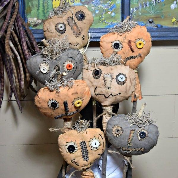 Fall primitive pumpkins craft