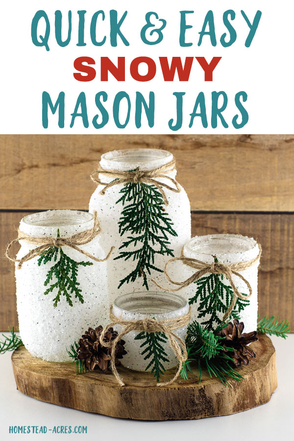 Quick and Easy Snowy Mason Jars