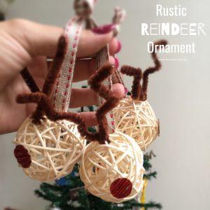 DIY Rustic Reindeer Ornament
