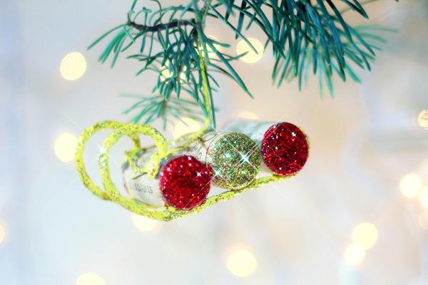 Christmas Sled Ornaments Wine Corks