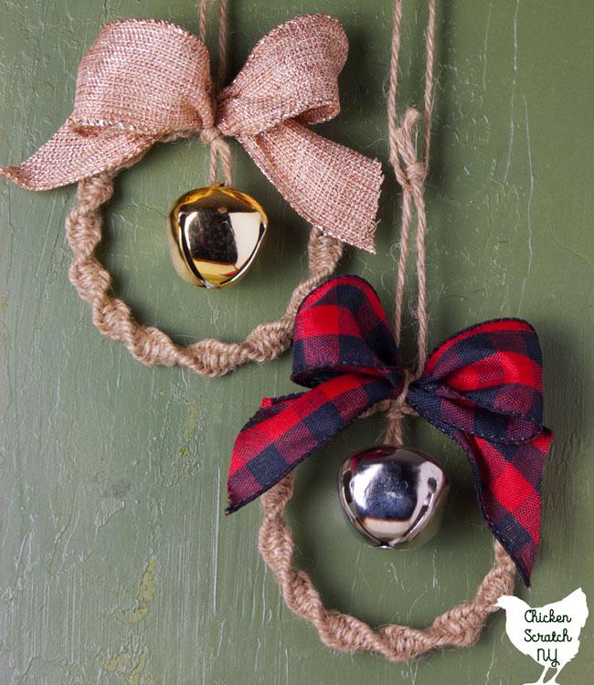 DIY Macrame Wreath Ornaments