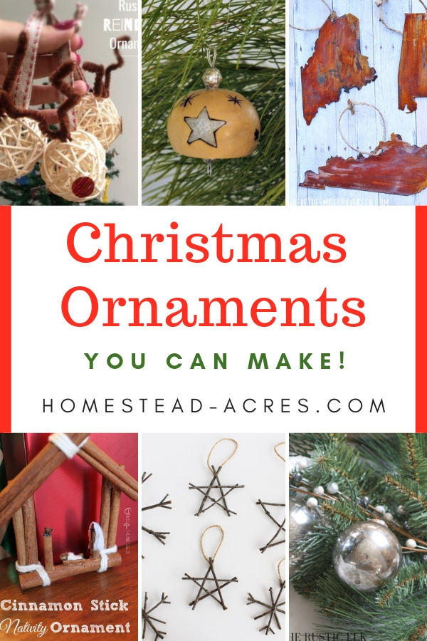 Rustic Christmas Ornaments You Can Make