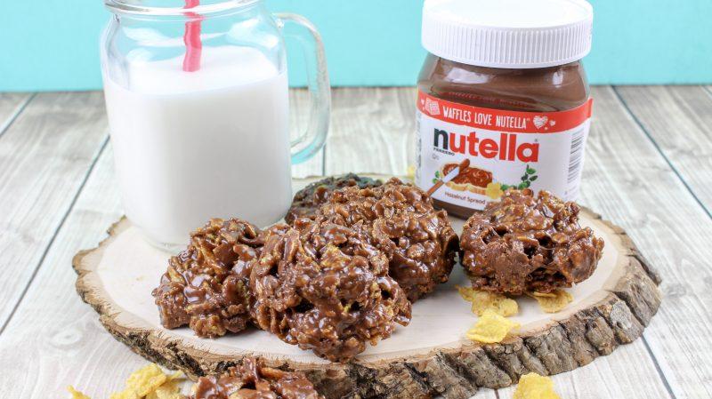 Nutella Cornflake no bake cookies