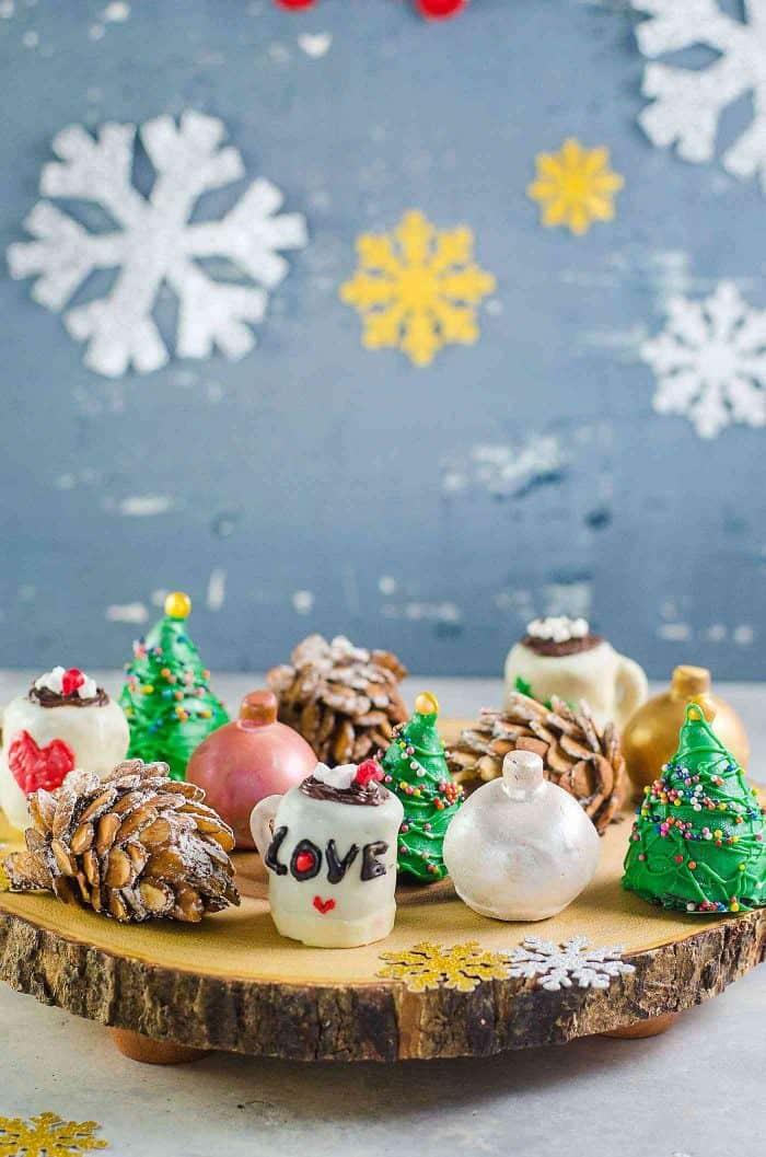 No Bake Christmas Oreo Balls