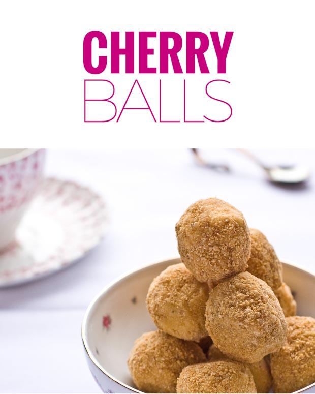 No Bake Cherry Balls Recipe