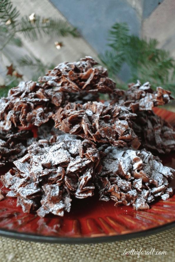 Raw Cacao And Coconut Haystacks no bake