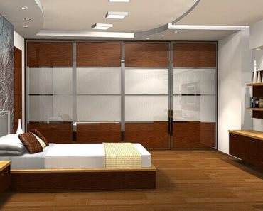 Sleek modern bedroom