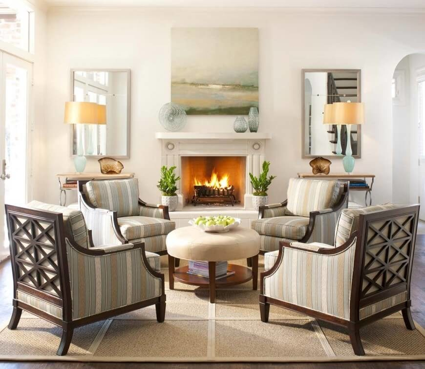 If you prefer the traditional look of a wood burning fireplace  raised hearth is 650 Formal Living Room Design Ideas for 2018