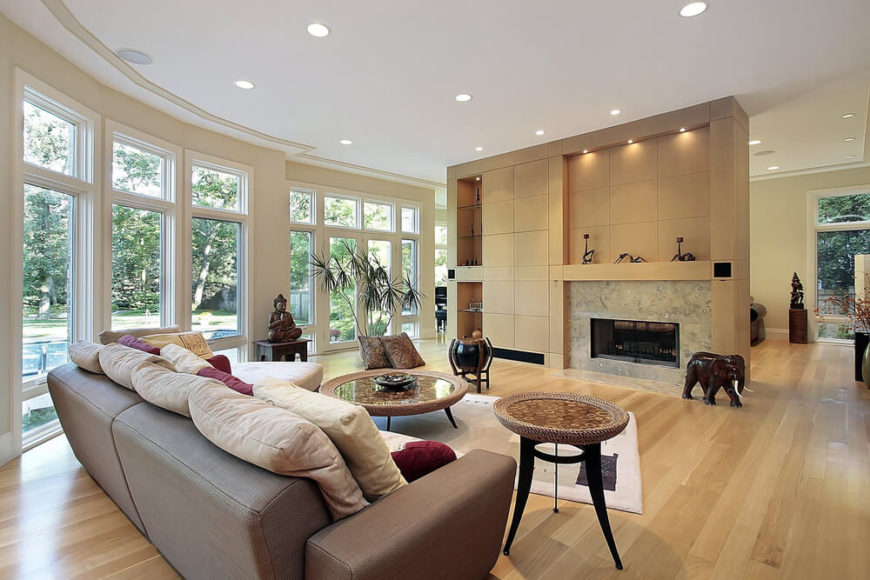 A light hardwood is great for creating an open spacious feeling room and its
