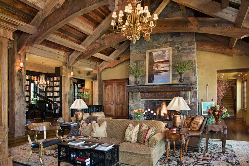 51 Living Room Pillar Styles Rustic Part 55