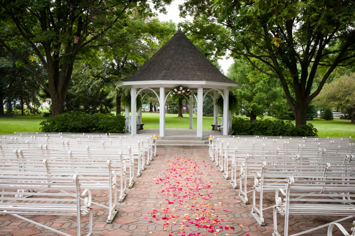 A gazebo with an open design is much like a pavilion, and it's very easy to maneuver. Open design gazebos are great for hosting large parties.