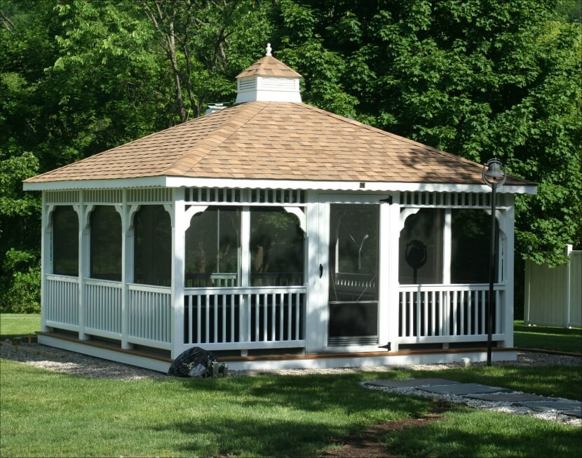 110 Gazebo Designs Amp Ideas Wood Vinyl Octagon