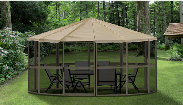 This much more portable style is screened in to keep out the bugs and would probably be a fantastic structure to take along with you while camping with a large group.