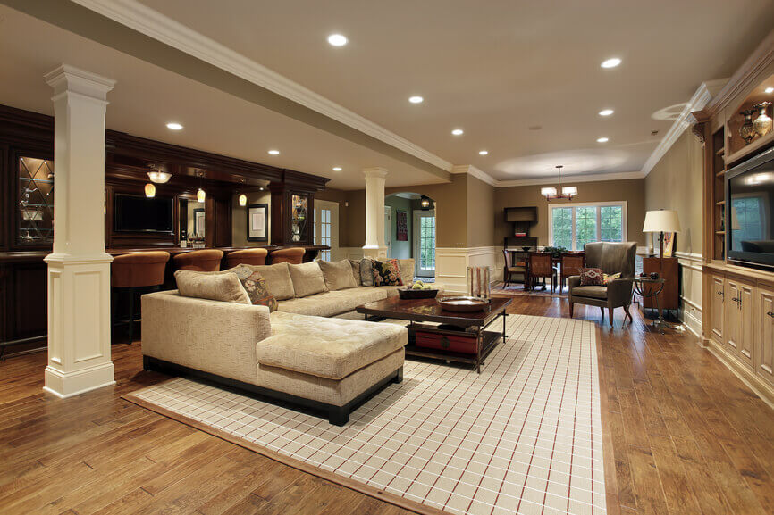 63 finished basement man cave designs awesome pictures - Finished Basement Design Ideas