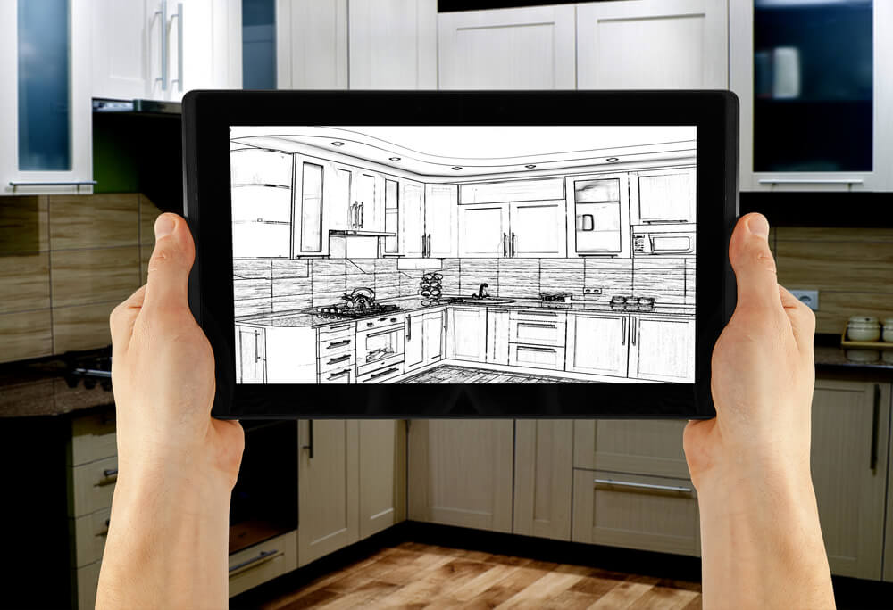 Interior design software on a tablet 25