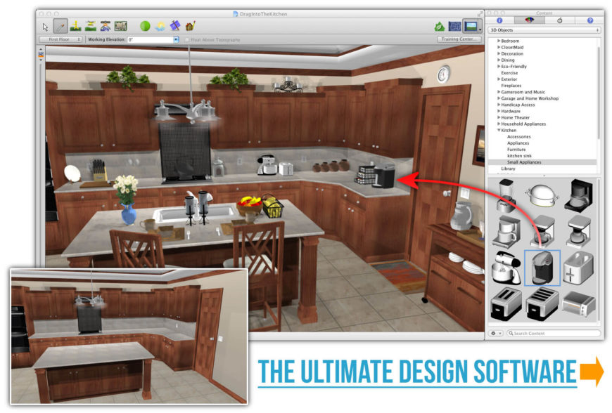 wonderful Free Virtual Kitchen Remodel Software #2: Punch-SoftwareAd