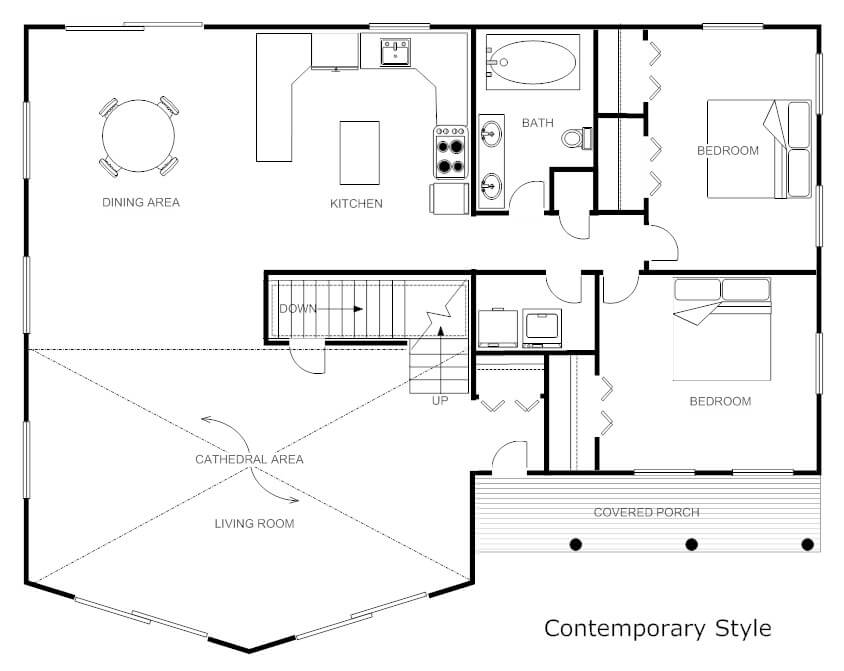 smartdraw interior design software create floor plans - Home Design Floor Plans Free