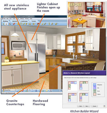 sample kitchen design with hgtv design software