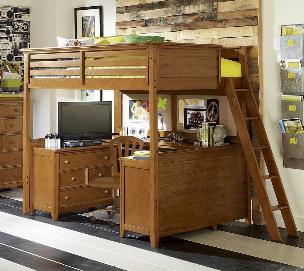 Childrenu0027s Office Under Bed In Bunk Bed/loft System
