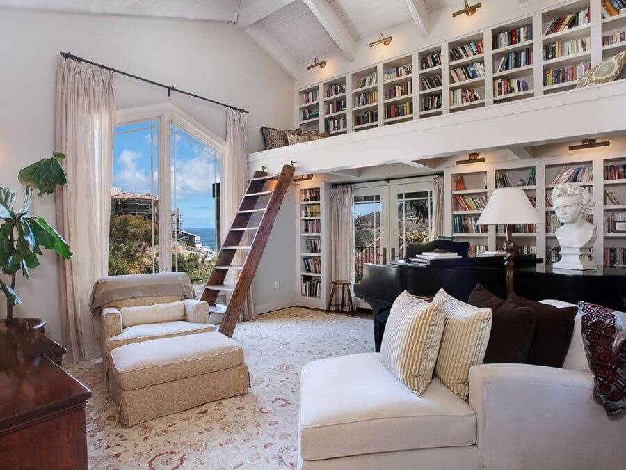 Bookshelves Are A Spectacular Way To Decorate A Home. This Home Takes  Bookshelves Literally To