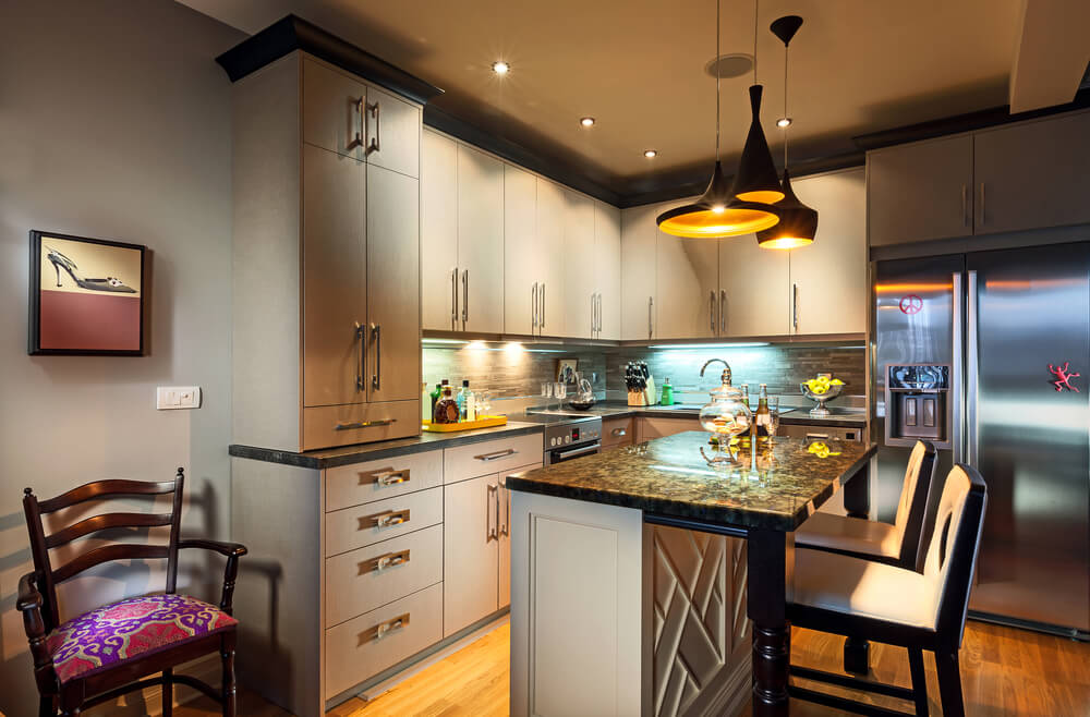 освещение в кухне дизайн фото