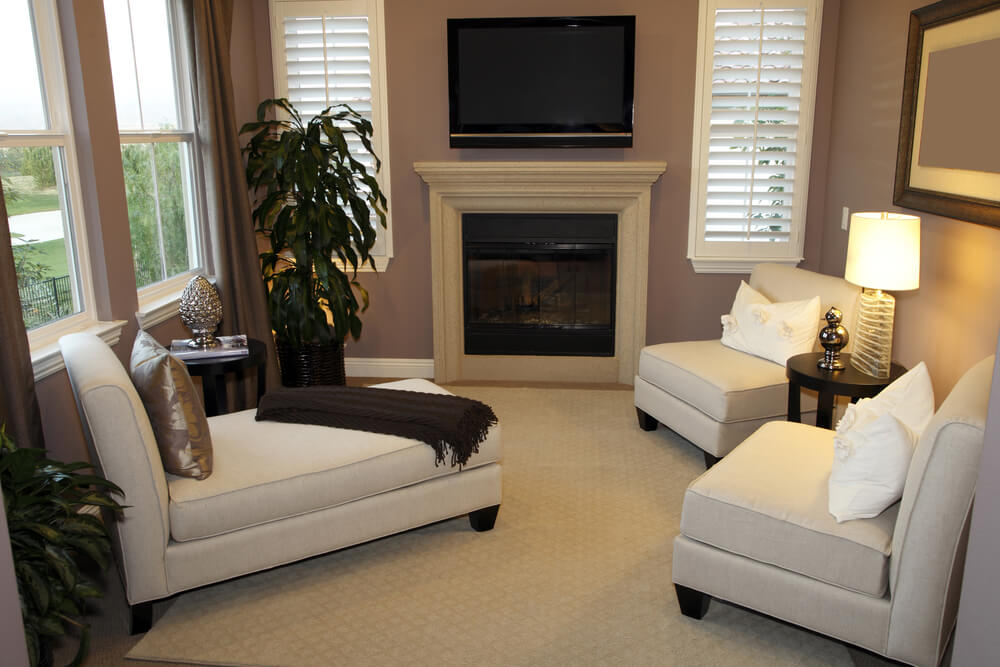 Example Of A Great Living Room Design In Small Space The Furniture Is