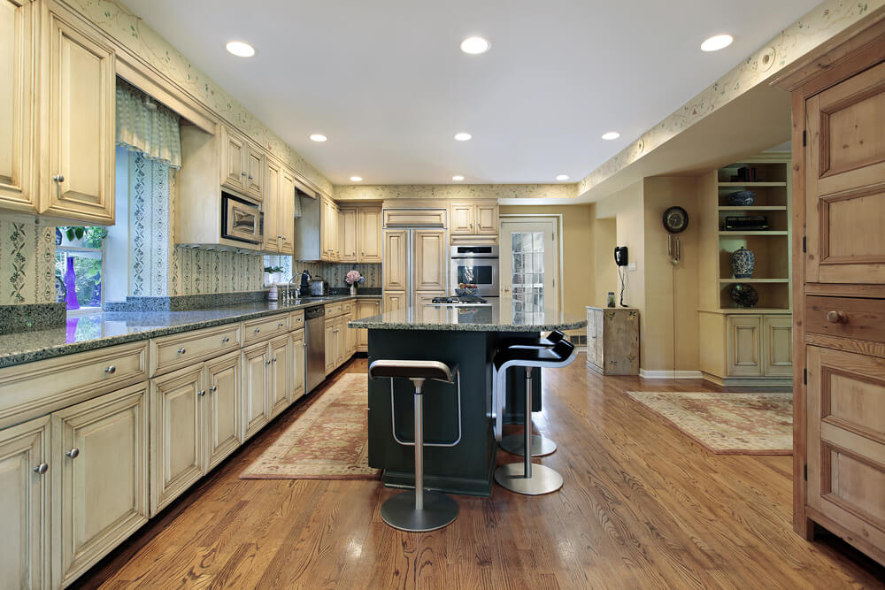Off White Kitchen Cabinets With Dark Floors Kitchen Cabinet In