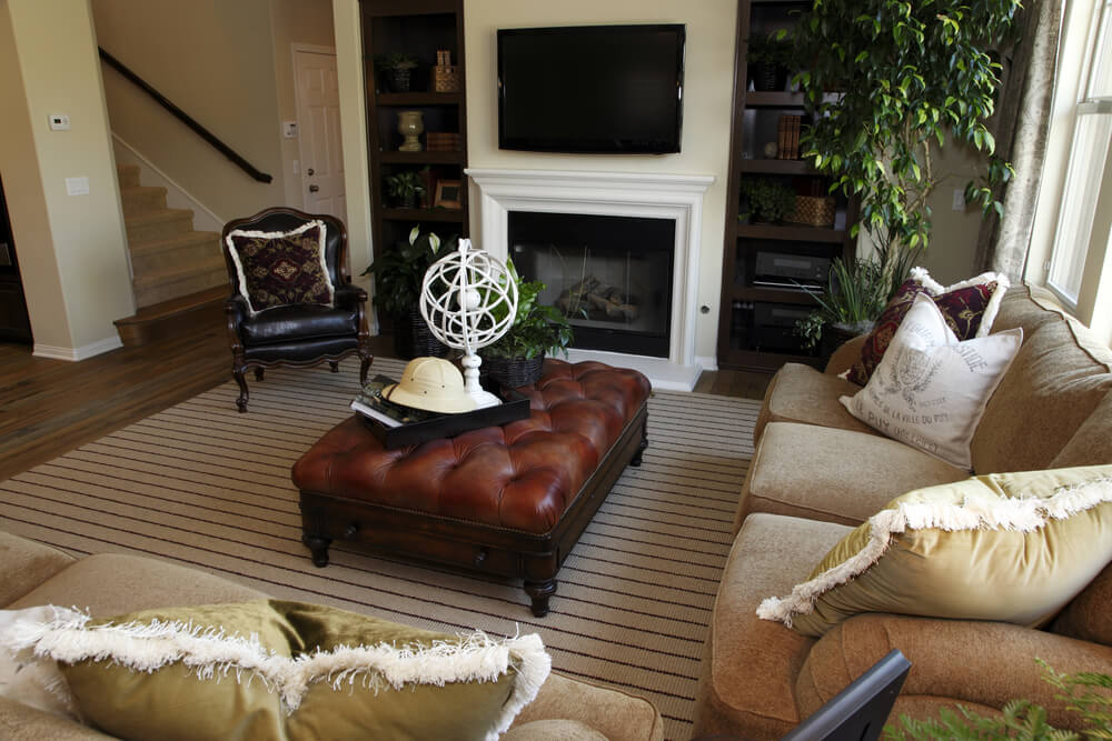 Here Is A Living Room That Can Easily Double As Family With Comfortable Beige