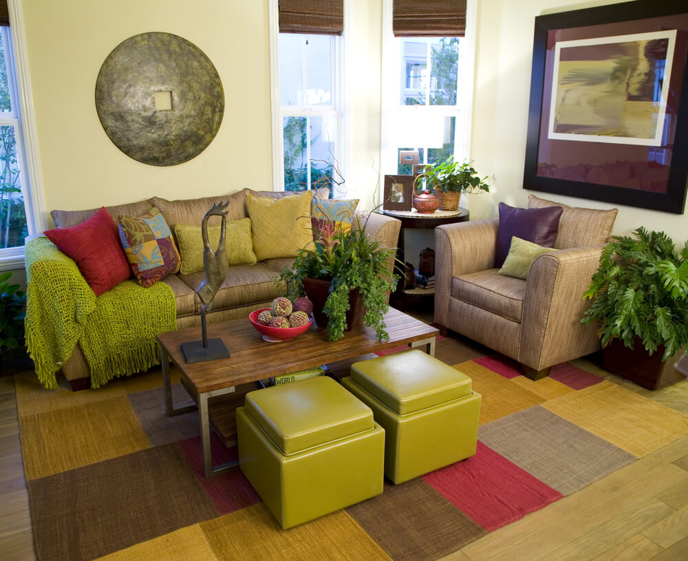 25 cozy living room tips and ideas for small and big for Pink and green living room ideas