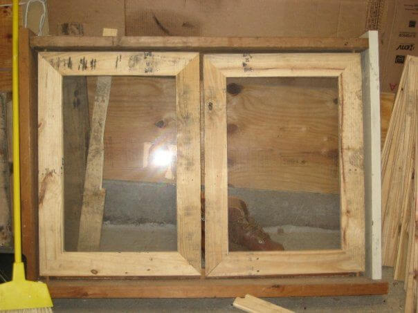 Completed double windows