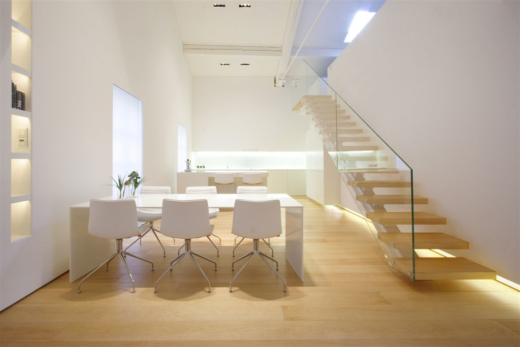 Modern dining room and staircase