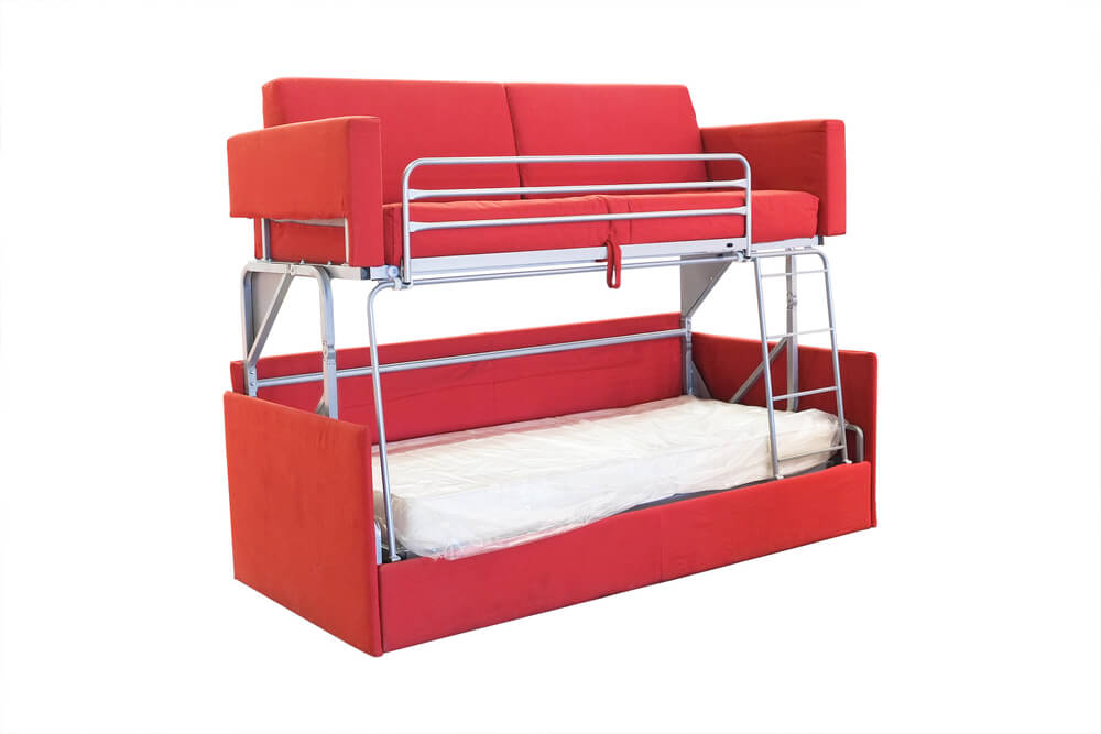 Bunk Bed Sleeper Sofa Comboa