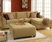 Beige small sectional