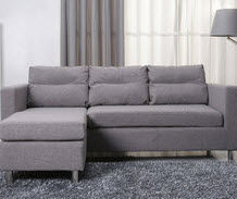 Small Grey Chaise Lounge Sectional Sofa