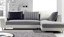 Hokku Designs white and grey chaise lounge sectional