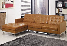 Light Brown Chaise Lounge Modern Sectional