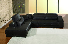 L-shaped black small sectional